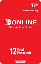 Nintendo Switch Online 12-Months Membership
